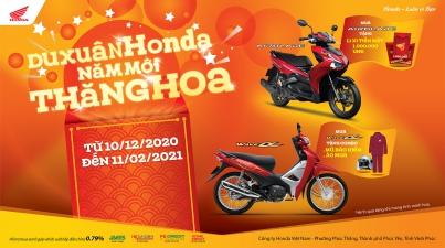 """Honda Việt Nam dành ưu đãi hấp dẫn cho khách hàng mua xe Wave Alpha 110cc & Air Blade 150cc/125cc – """"Du xuân Honda, Năm mới thăng hoa"""" –"""